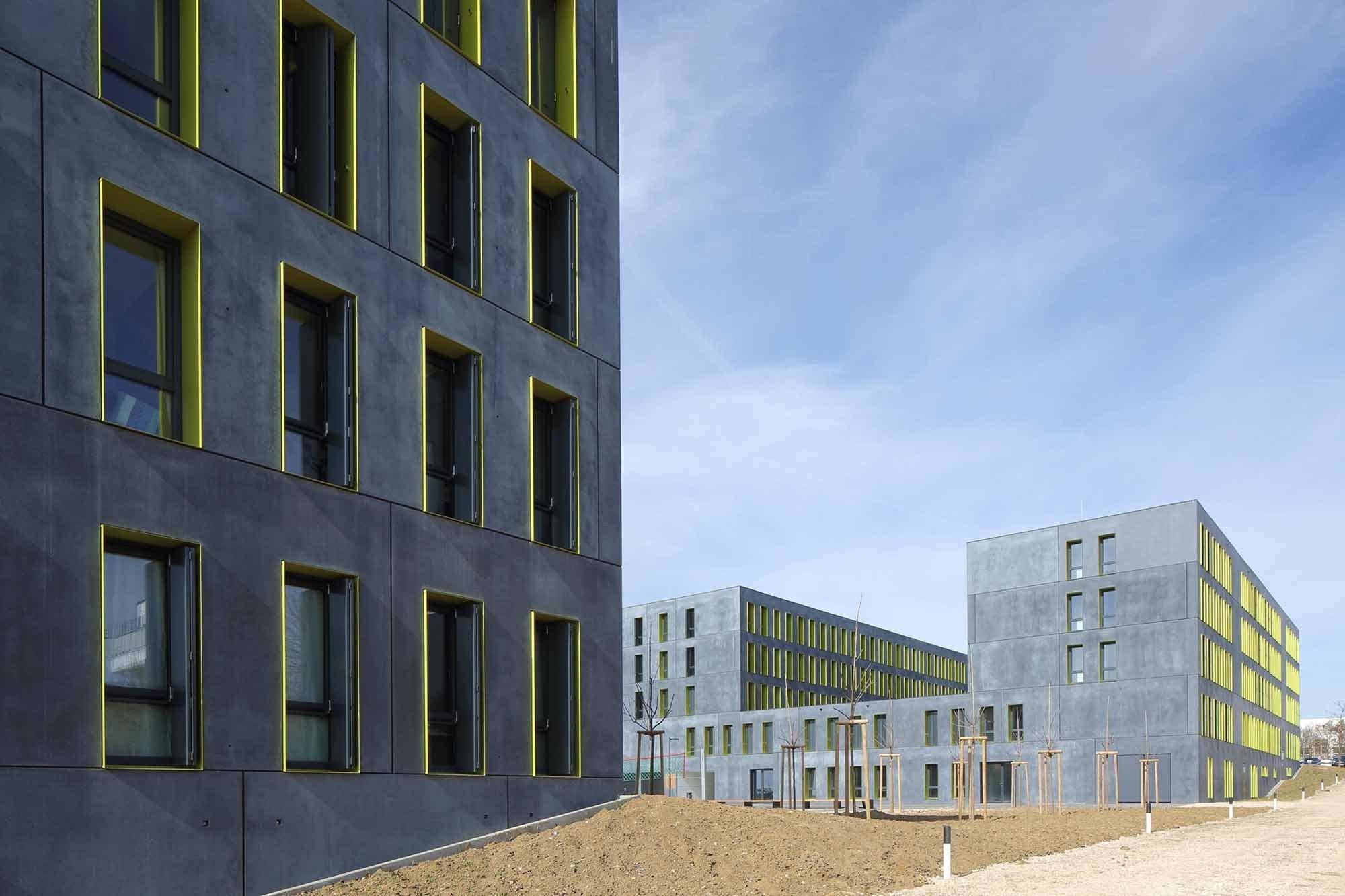 Studentenwohnheim upper west side in ulm beton wohnen for Architektur 4 1