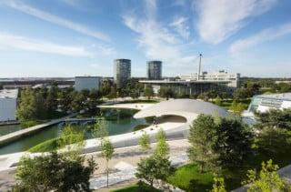 Der Porsche-Pavillon ist der erste Neubau seit Eröffnung der Autostadt im Jahr 2000