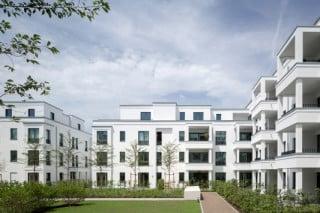 Insgesamt 85 Eigentumswohnungen entstanden im Gebäudeensemble Parkside One des Quartiers Belsenpark