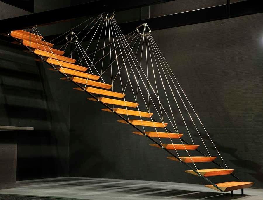 Absturzsicherung Treppe filigrane hängetreppe treppen produkte baunetz wissen