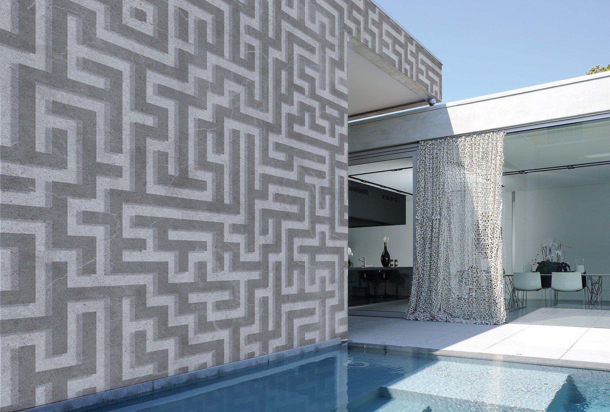 Das Produkt Labyrinth (Serie Out 13) Wird In Grau Und Beige Angeboten  (Design: Casa 1796)
