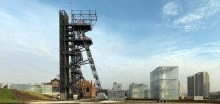 Der markante Zechenturm ist der höchste Bau auf dem Museumsgelände