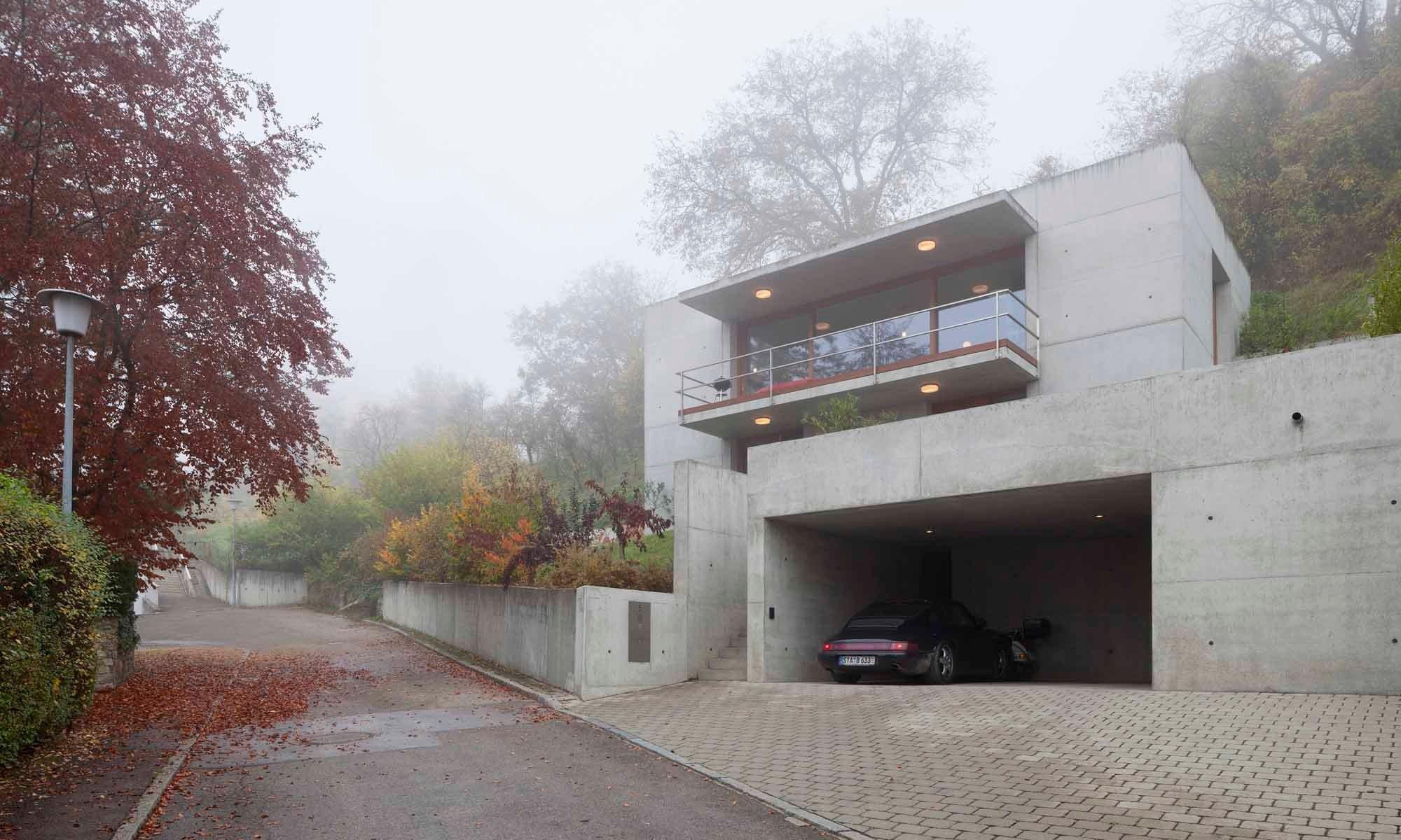 wohnhaus in oberelchingen beton wohnen efh baunetz wissen. Black Bedroom Furniture Sets. Home Design Ideas