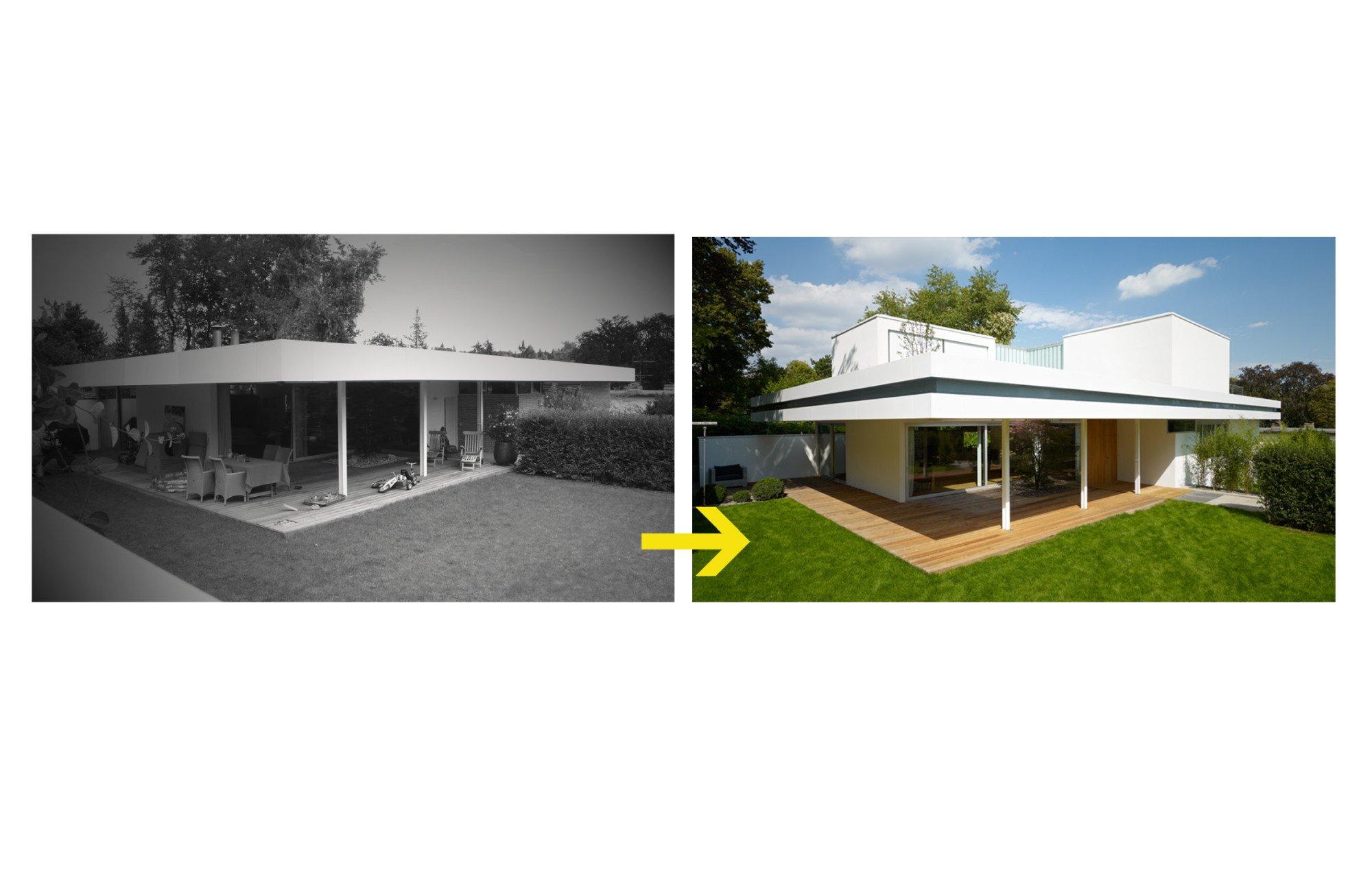 aufstockung haus s in wiesbaden flachdach wohnen baunetz wissen. Black Bedroom Furniture Sets. Home Design Ideas