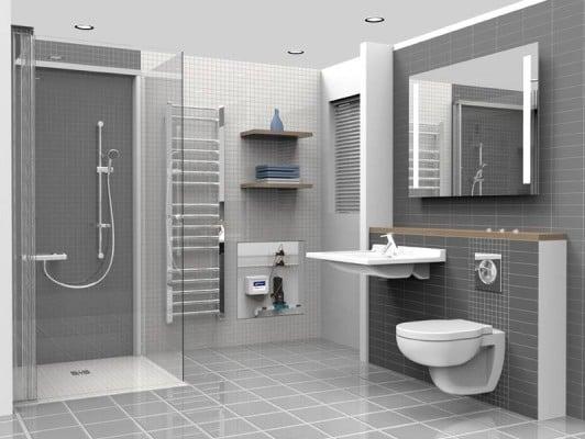 mithilfe des pumpsystems kann auf einen natrlichen ablauf verzichtet werden zwei prozent geflle im duschbereich - Dusche Einbauen Ohne Abfluss