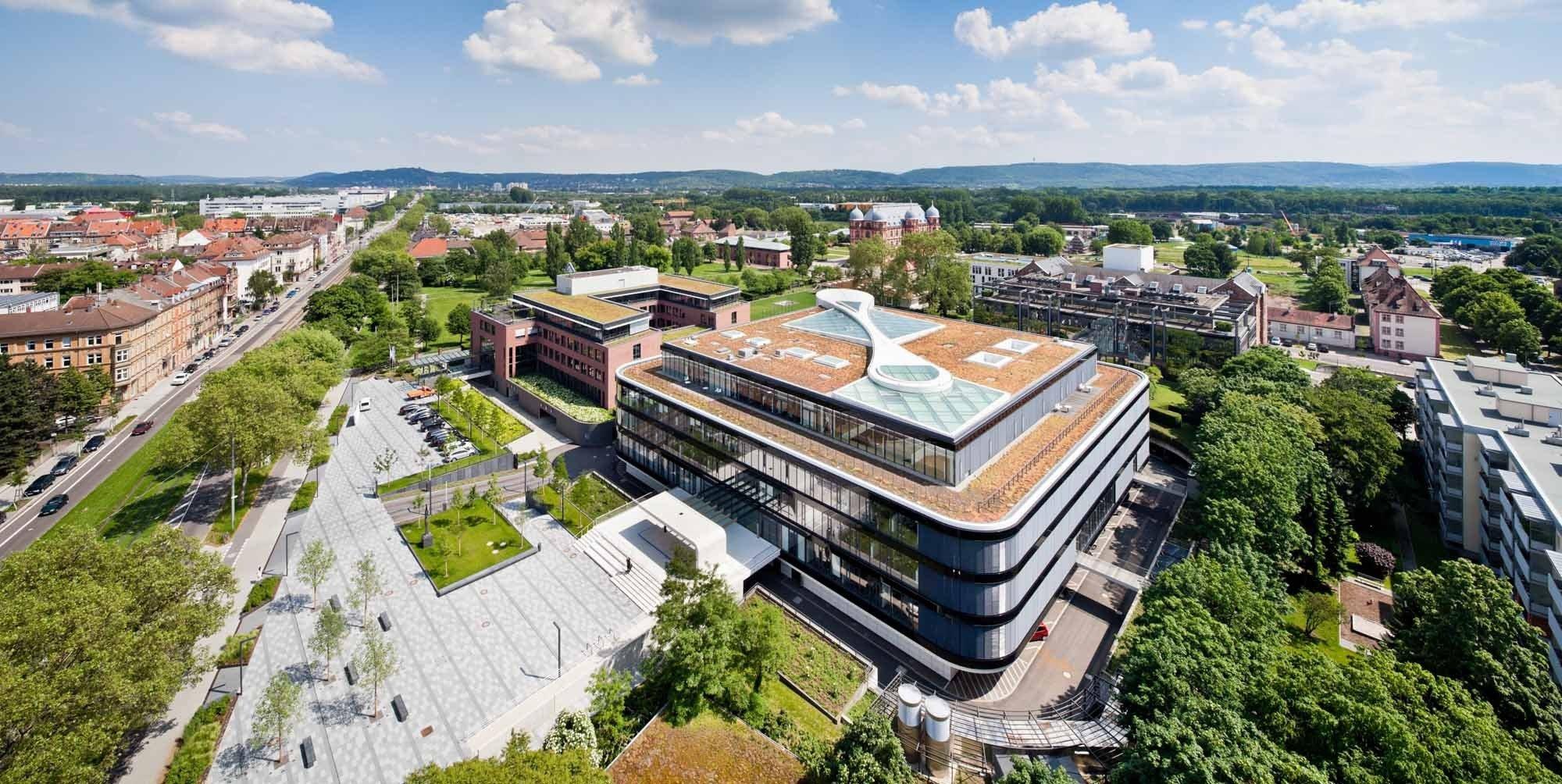 Attraktiv Innenarchitekt Karlsruhe Das Beste Von Blick Auf Das Neue Dach Und Die