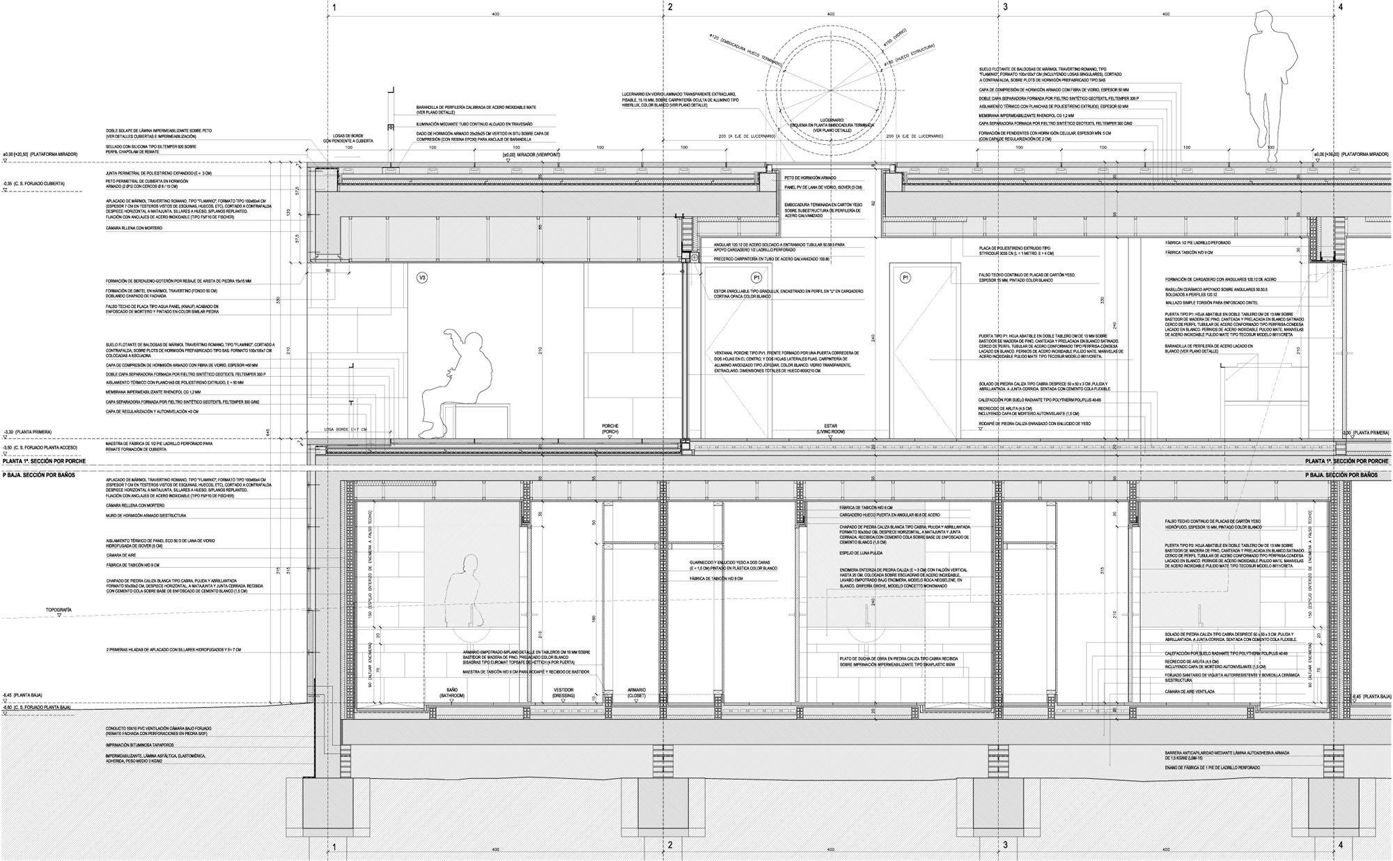 Oberlicht schnitt  House of the Infinite in Cádiz | Flachdach | Wohnen | Baunetz_Wissen
