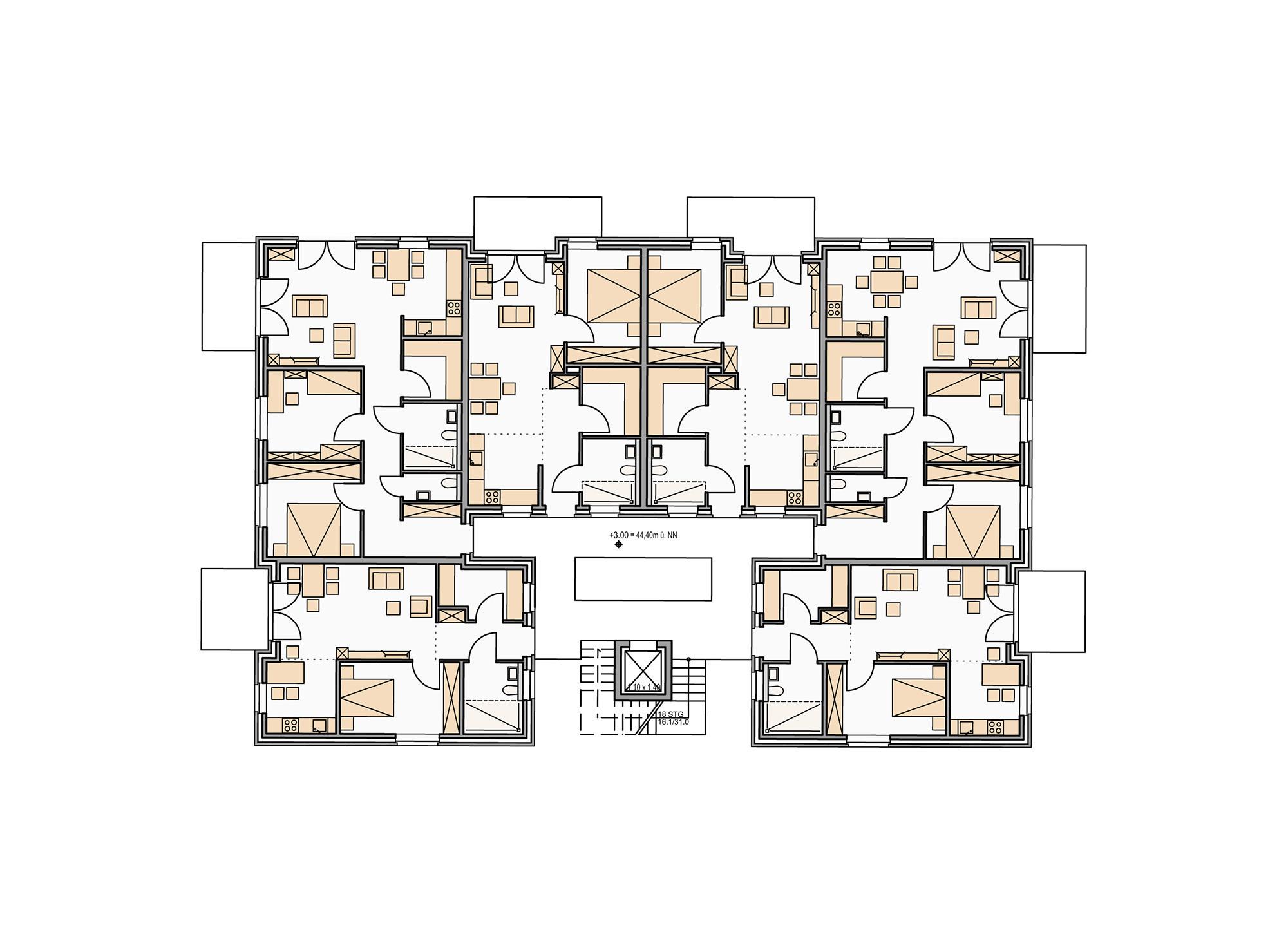 klimaschutzsiedlung wohnen am ballenlager in greven geb udetechnik wohnen baunetz wissen. Black Bedroom Furniture Sets. Home Design Ideas
