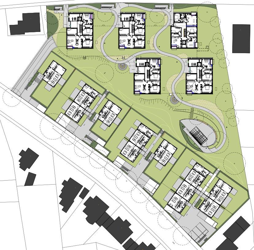 Wohnsiedlung living gardens in bad pyrmont flachdach wohnen baunetz wissen - Dreibund architekten ...