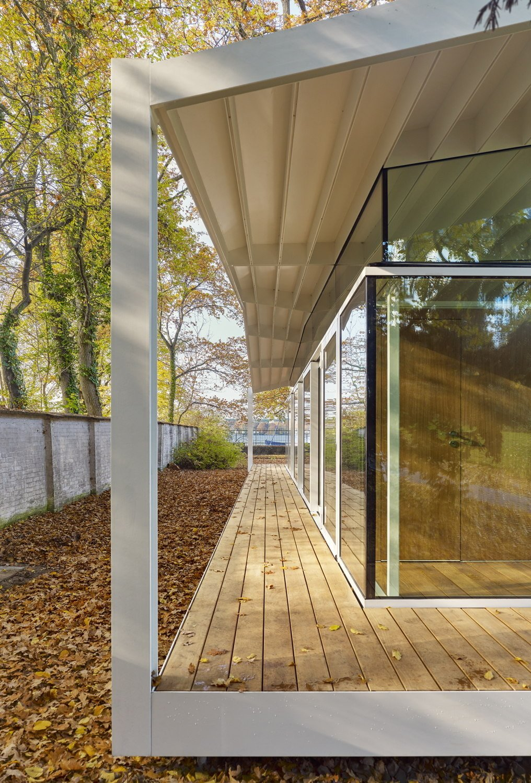fellows pavilion der american academy in berlin glas. Black Bedroom Furniture Sets. Home Design Ideas