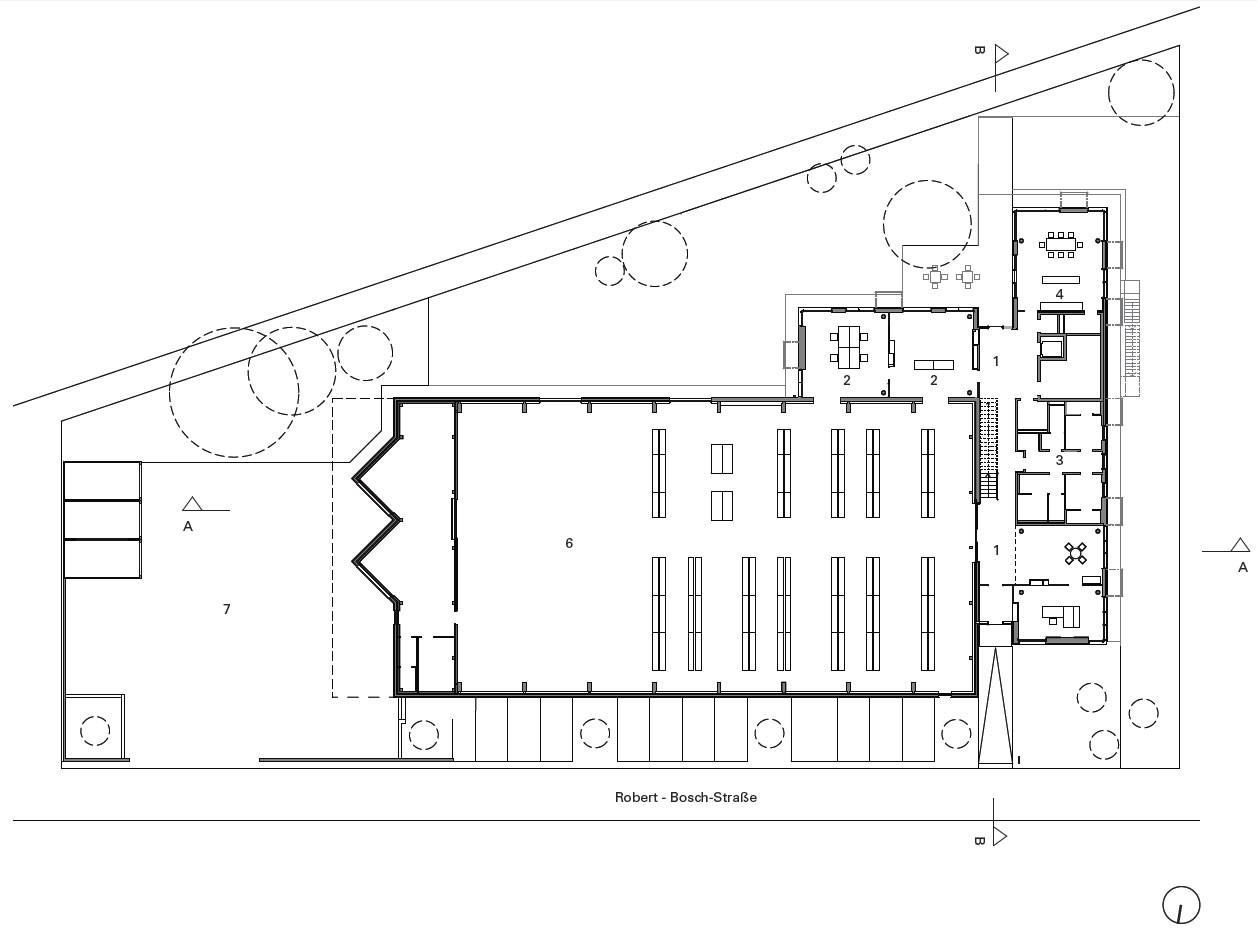 Raumhohe Fenster lagerhalle und verwaltungsgebäude stahlcon in steinenbronn nachhaltig bauen gewerbe