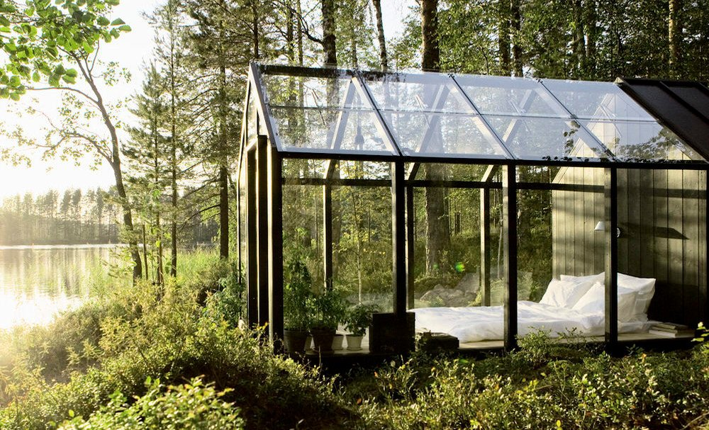 modulares gartenhaus aus glas und holz glas news. Black Bedroom Furniture Sets. Home Design Ideas