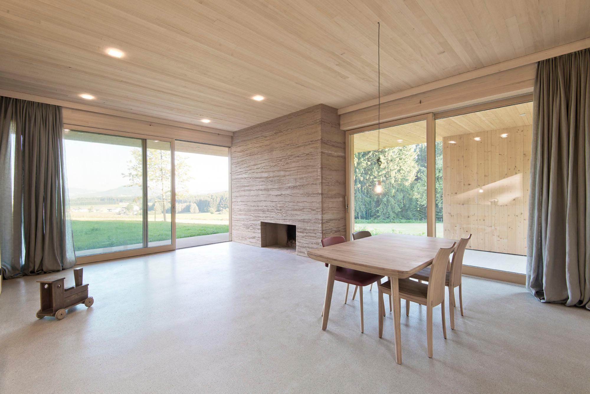 Versiegelter Estrich wochenendhaus in lengau geneigtes dach wohnen baunetz wissen