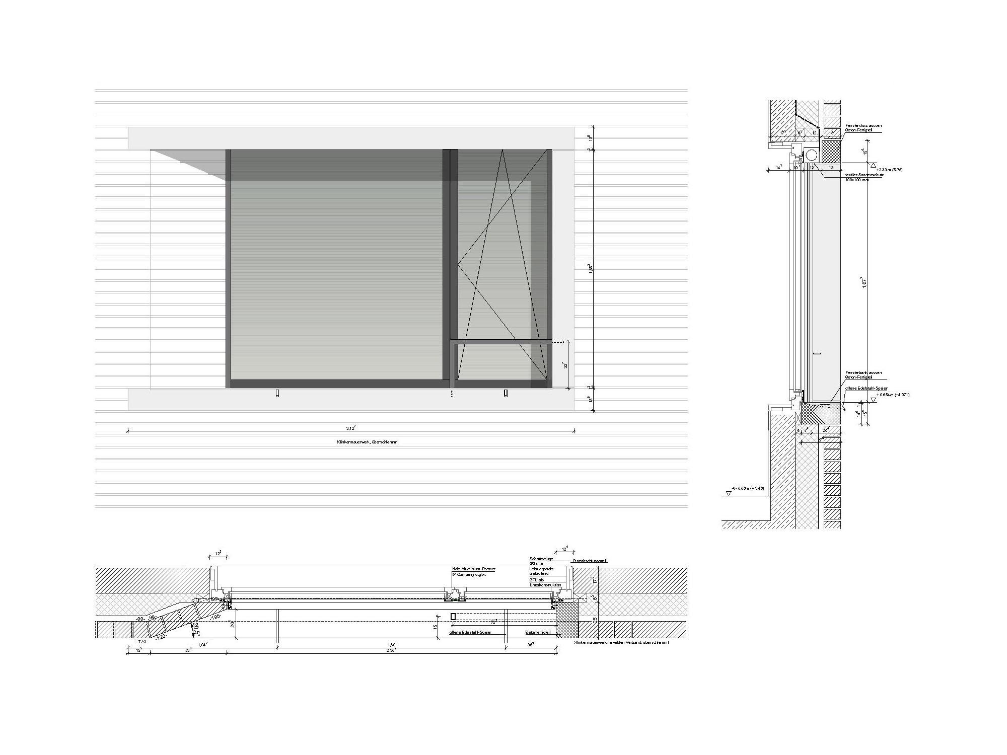 Rathaus in wettstetten geneigtes dach kultur baunetz for Fensterdetail