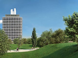 Südansicht des Olympia Towers