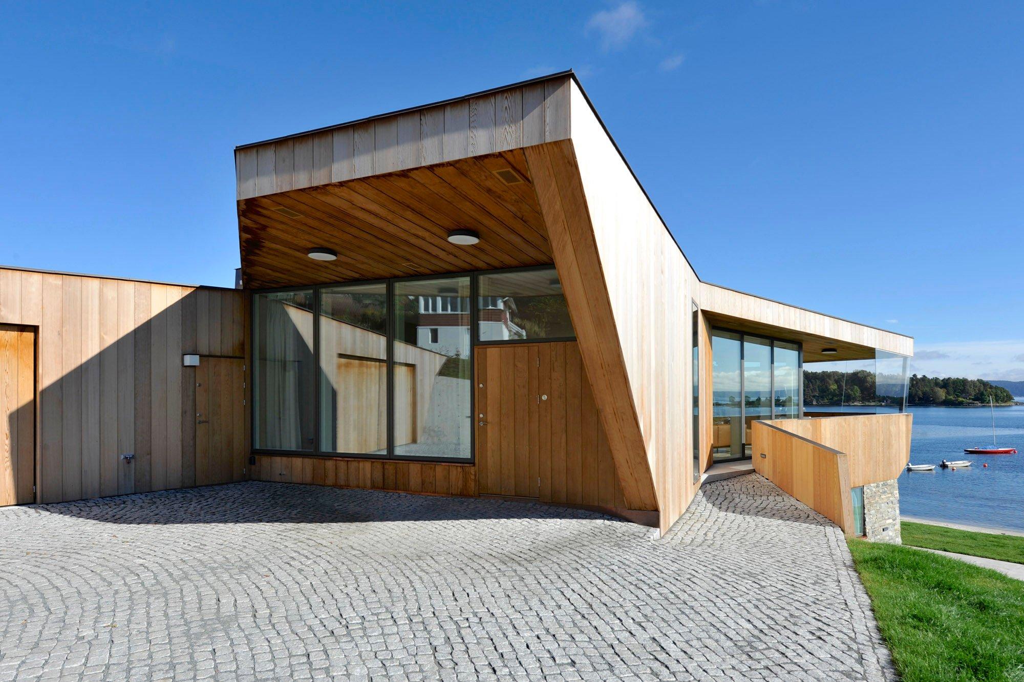 split house in asker flachdach wohnen baunetz wissen. Black Bedroom Furniture Sets. Home Design Ideas