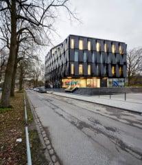 Das NEW Blauhaus in Mönchengladbach ist eine Kooperation des Unternehmens Niederrhein Energie Wasser und der Hochschule Niederrhein