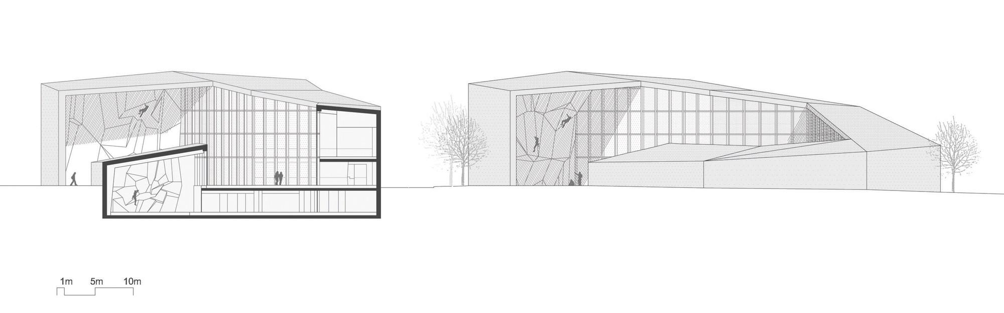 kletterhalle in bruneck flachdach kultur und freizeit baunetz wissen. Black Bedroom Furniture Sets. Home Design Ideas