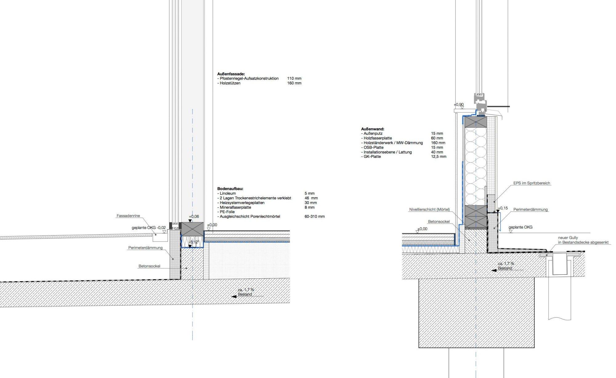 Eingangstür detail grundriss  Kita Wolke 10 in Nürnberg | Flachdach | Bildung | Baunetz_Wissen