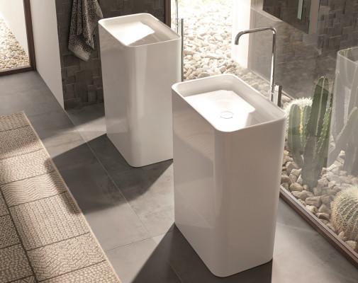 Skulpturaler Waschtisch Aus Stahlemail Bad Und Sanit 228 R