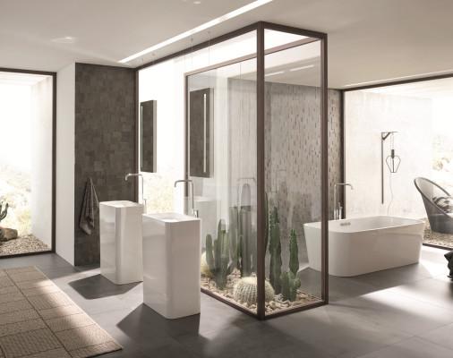 skulpturaler waschtisch aus stahlemail bad und sanit r. Black Bedroom Furniture Sets. Home Design Ideas