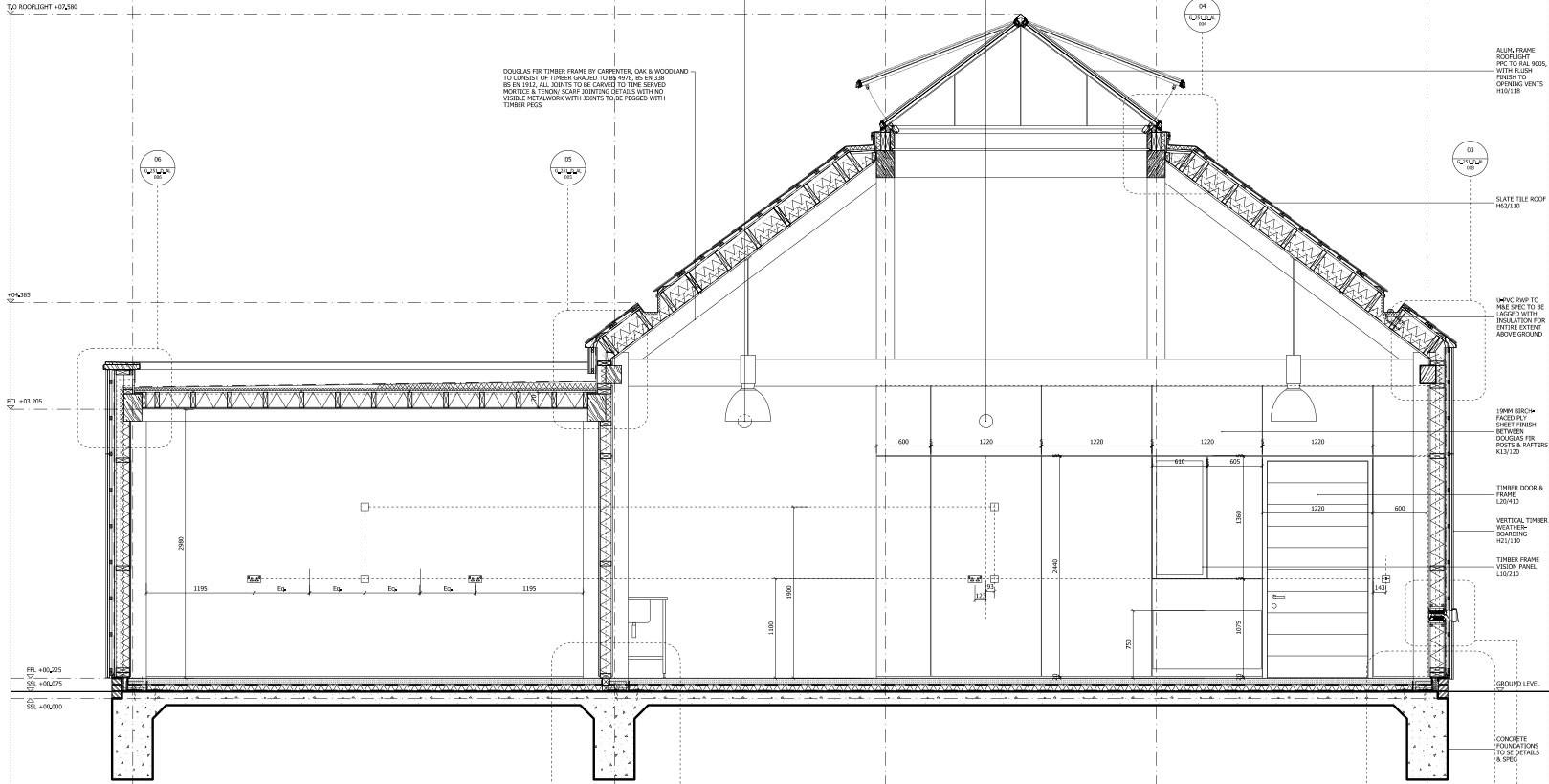 Oberlicht schnitt  Werkstatt der St James School in Ashford | Schiefer | Kultur ...