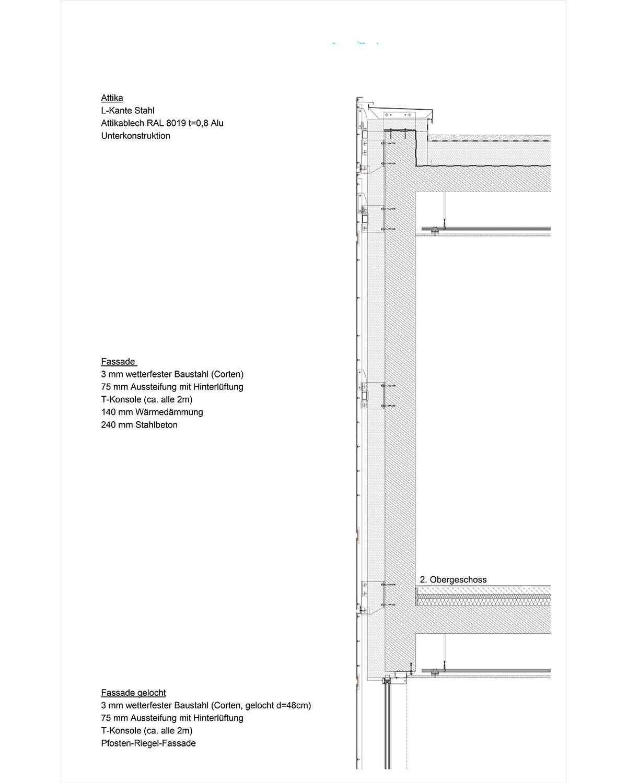 Cortenstahl Fassade Befestigung Ullrich T 220 R Torsysteme Cor Ten