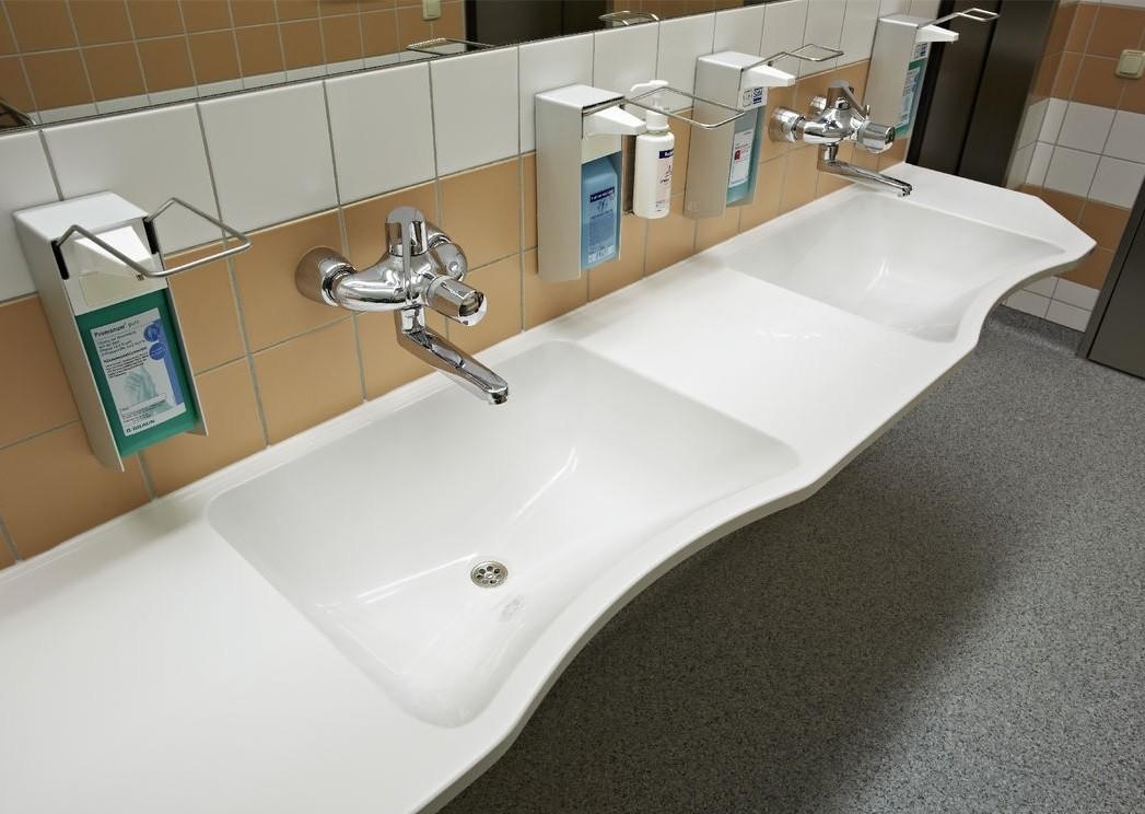 waschtische f r hohe hygienische anforderungen bad und sanit r news produkte baunetz wissen. Black Bedroom Furniture Sets. Home Design Ideas