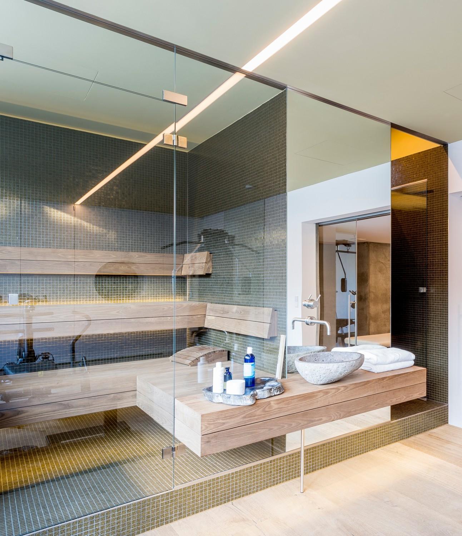 Schlichtes Sauna Design Holz Seeblick ? Menerima.info   Schlichtes Sauna  Design Holz Seeblick
