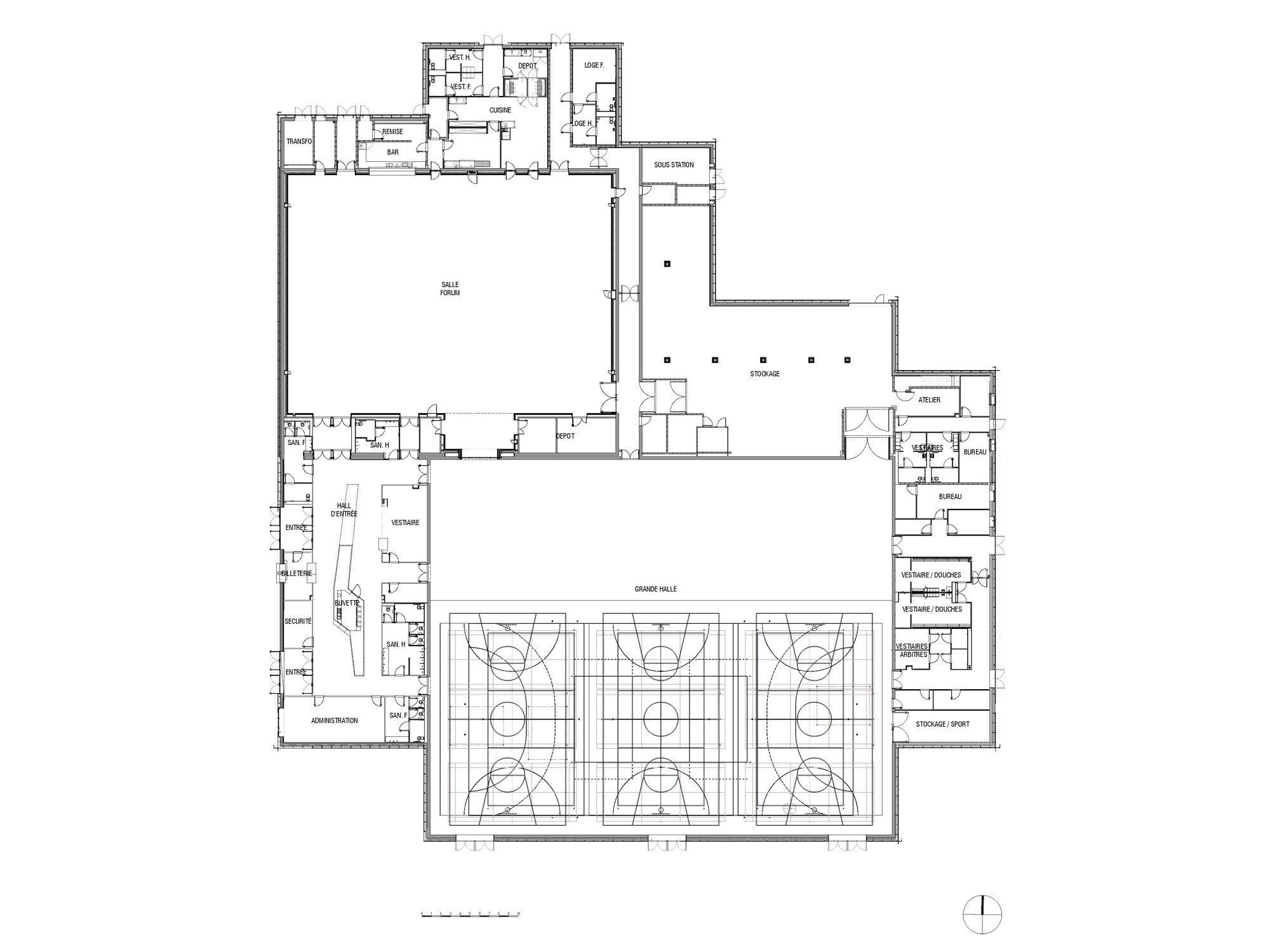 mehrzweckhalle le forum in saint louis fassade sport freizeit baunetz wissen. Black Bedroom Furniture Sets. Home Design Ideas