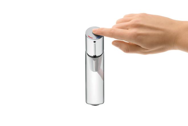 Attraktiv Das Wasser Fließt Bei Der Armatur Talis Select Auf Knopfdruck
