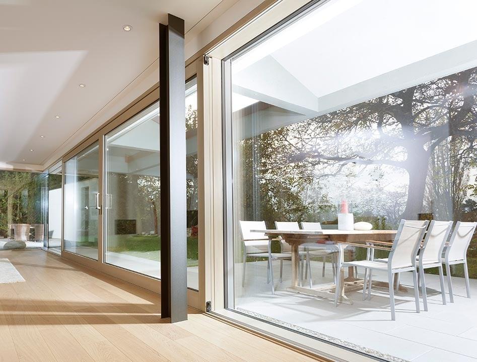 Holz aluminium fassade fassade news produkte archiv for Fenster bodentief