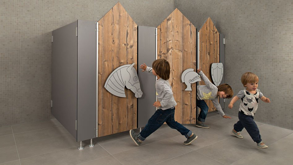 wc trennw nde f r kitas und schulen bad und sanit r news produkte baunetz wissen. Black Bedroom Furniture Sets. Home Design Ideas