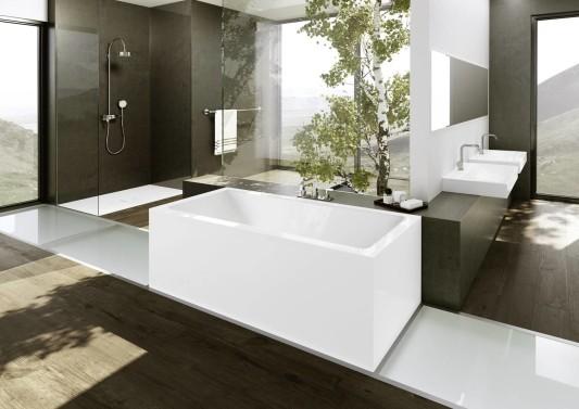 puristische badewannen aus stahlemail bad und sanit r. Black Bedroom Furniture Sets. Home Design Ideas