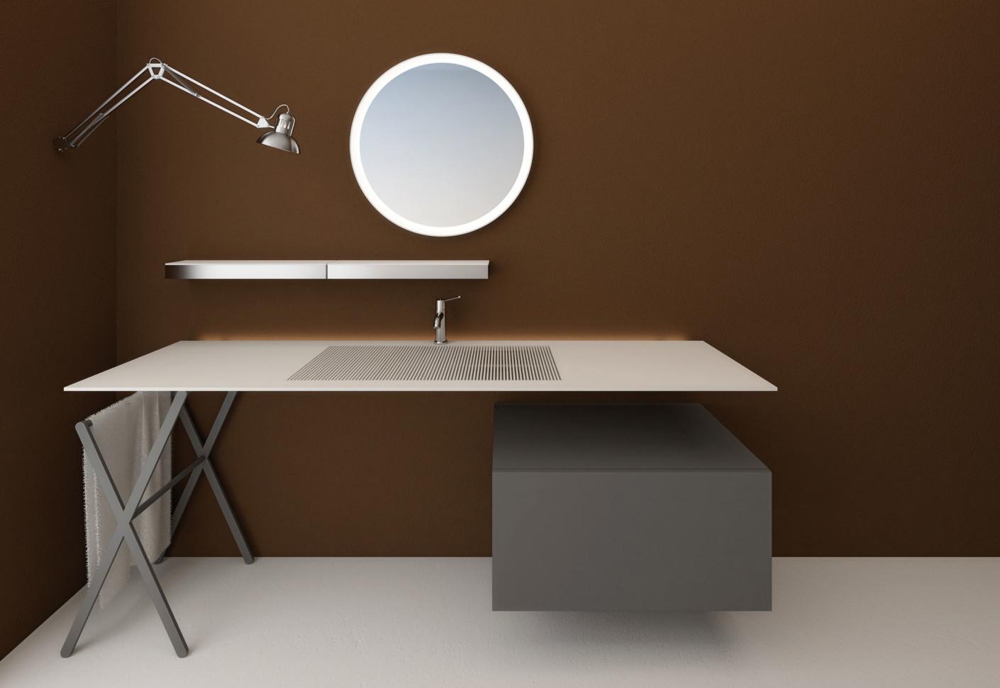 waschbecken unter gittern bad und sanit r news produkte baunetz wissen. Black Bedroom Furniture Sets. Home Design Ideas