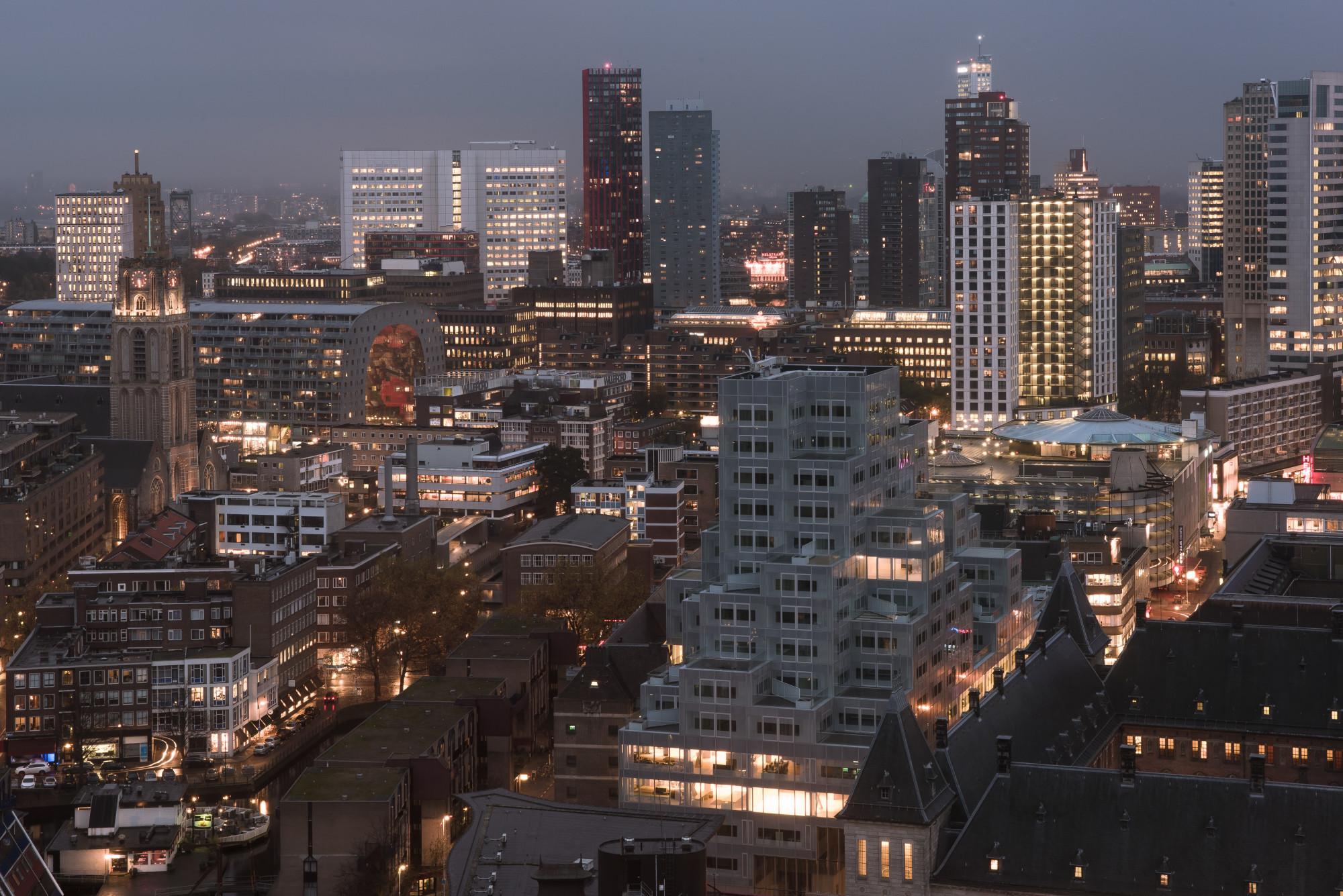Timmerhuis In Rotterdam Glas Buro Verwaltung Baunetz Wissen