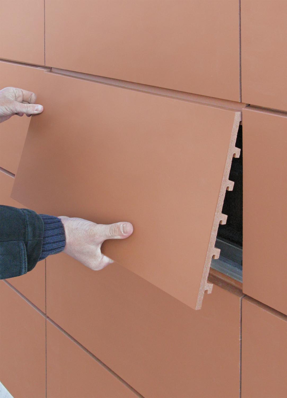 keramische fassadenplatten fliesen und platten news produkte baunetz wissen. Black Bedroom Furniture Sets. Home Design Ideas