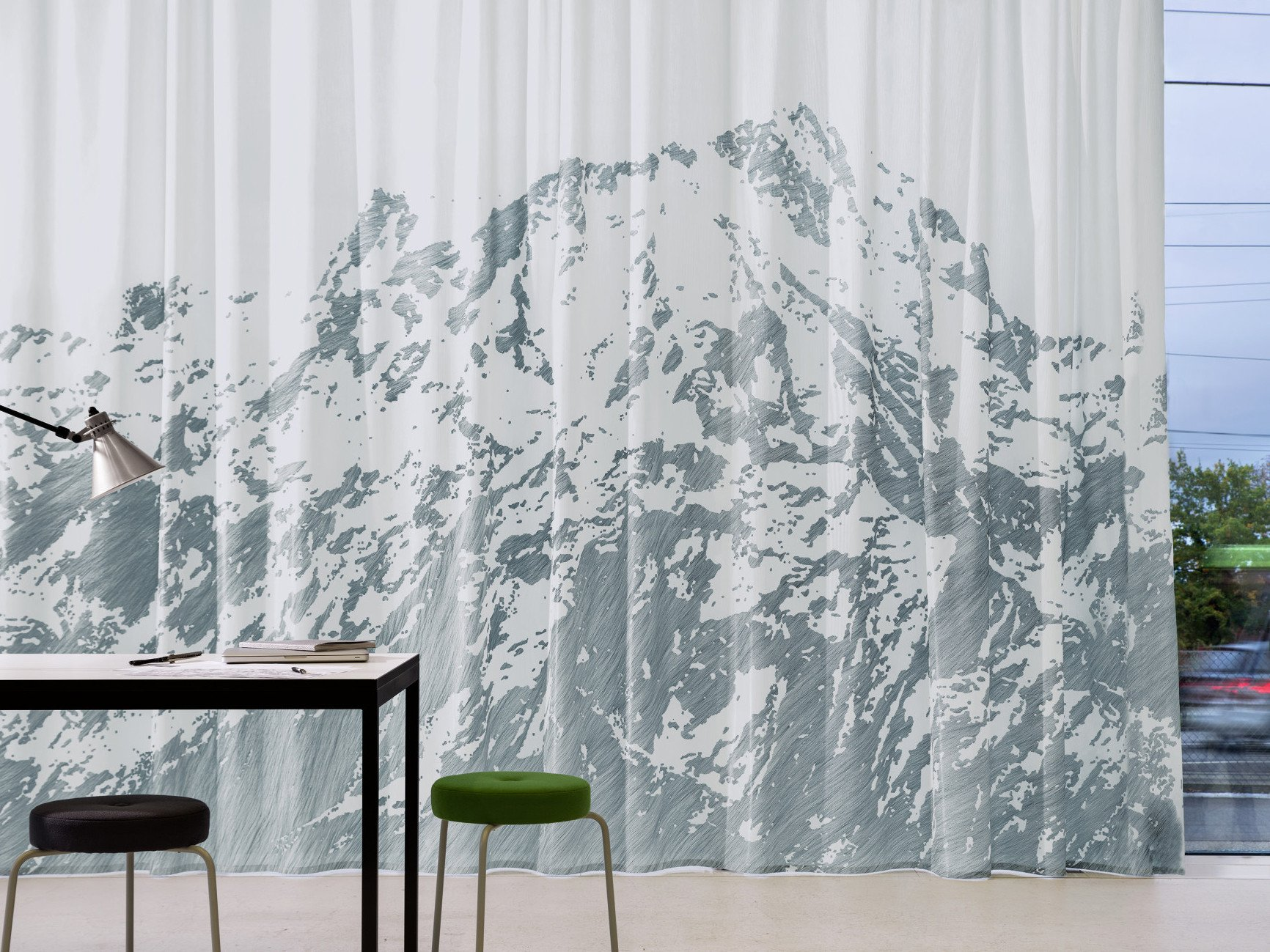 Vorhang Schallabsorbierend Dekoration : Transparente akustikvorhänge fürs büro akustik news produkte
