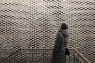 22quadrat entwarfen für die Treppenhäuser der Wohnanlage Corte Salvati in Freising ein ornamentales Wandrelief