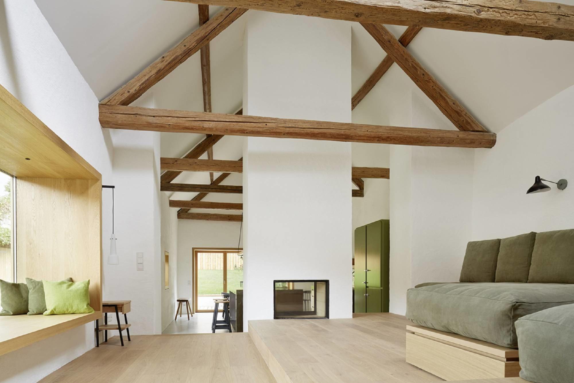 modernisierung von bauernhaus und scheune m1 in jois geneigtes dach wohnen baunetz wissen. Black Bedroom Furniture Sets. Home Design Ideas