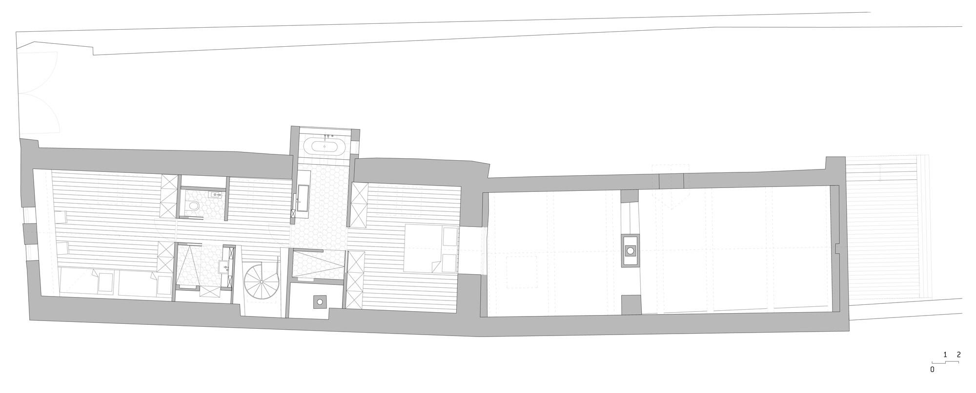 Modernisierung von bauernhaus und scheune m1 in jois for Wohnhaus grundriss