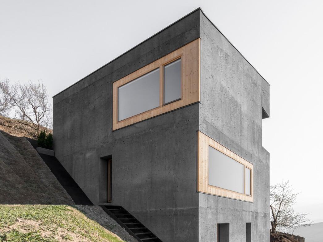 Wohnhaus andergassen urthaler in barbian beton wohnen for Architektur 4 1