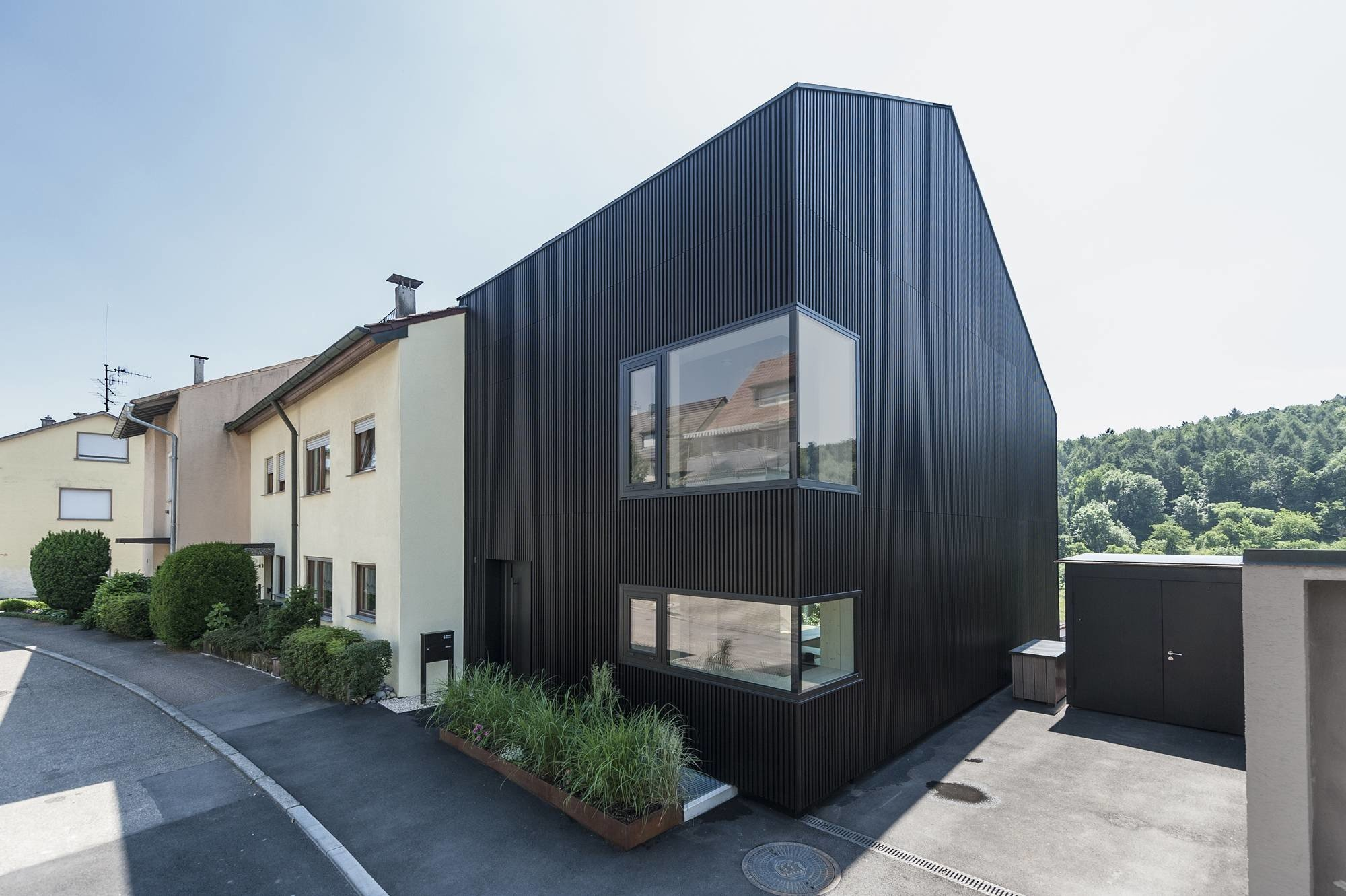 Wohnhaus in stuttgart geneigtes dach wohnen baunetz Architektur wohnen