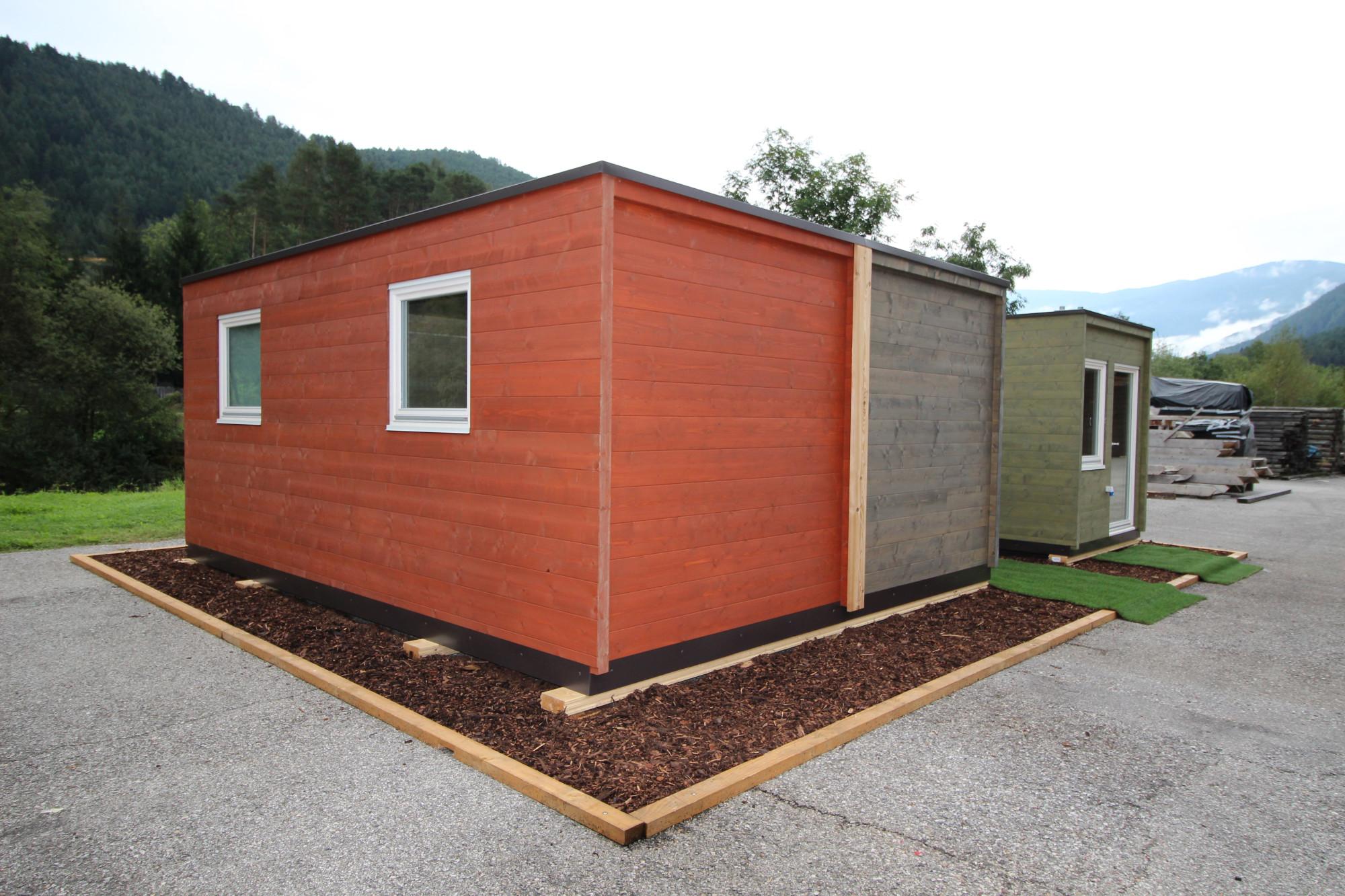 modulare container aus holz gesund bauen news produkte baunetz wissen. Black Bedroom Furniture Sets. Home Design Ideas