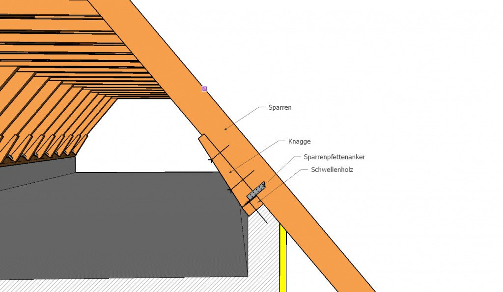 knagge geneigtes dach glossar baunetz wissen. Black Bedroom Furniture Sets. Home Design Ideas