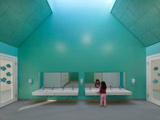 Das von Harris + Kurrle Architekten geplante Kinderhaus Birkenweg in Beilstein bietet Platz für fast 100 Schützlinge im Alter von ein bis sechs Jahren