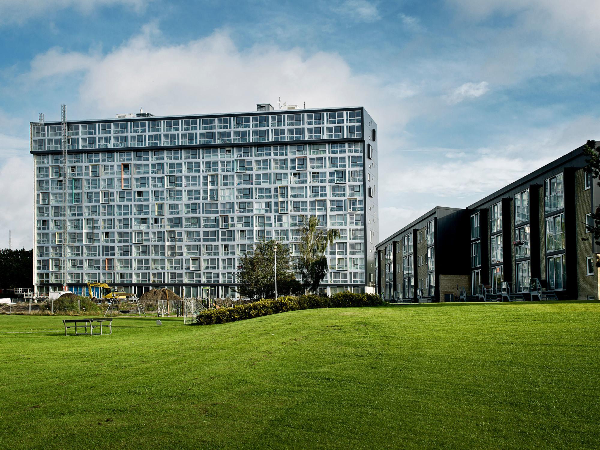 Wohnhochaus Magisterparken In Aaalborg Fassade Wohnen