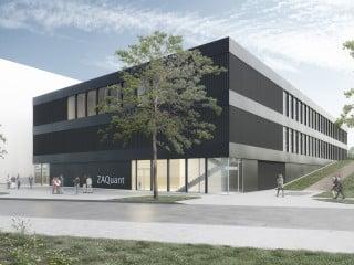Ende 2020 soll das Zentrum für Angewandte Quantentechnologie ZAQuant der Universität Stuttgart fertig sein; verantwortliche Planer sind Hammeskrause Architekten.