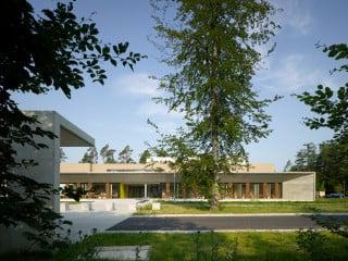 Das Partikel-Therapie-Zentrum östlich von Marburg liegt in unmittelbarer Nähe zum Universitätsklinikum