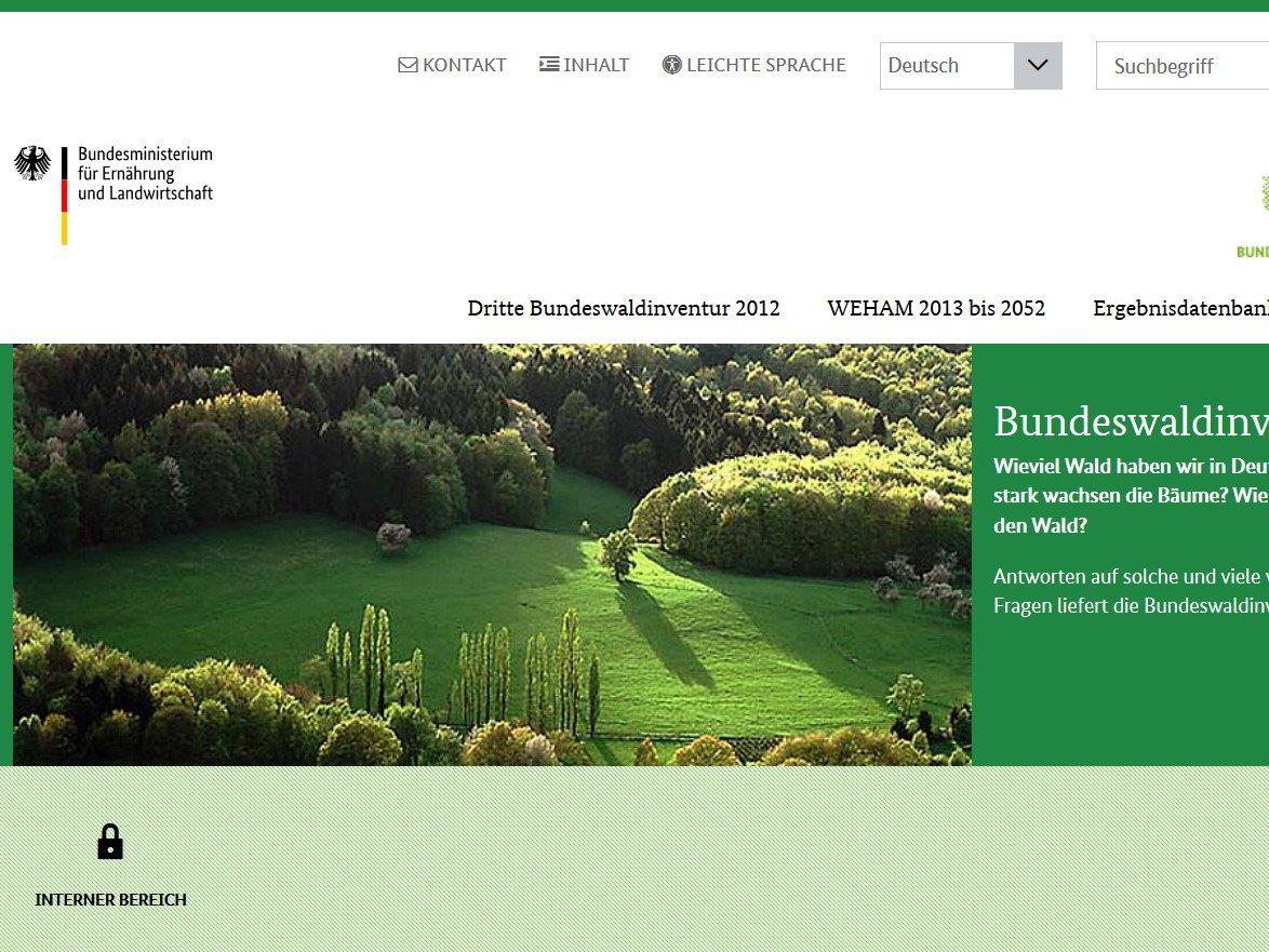 Bundeswaldinventur   Holz   Linkliste   Baunetz Wissen